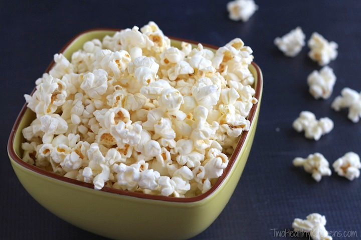 microwave popcorn by two healthy kitchens