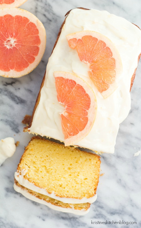 Grapefruit Ricotta Cake with Cream Cheese Frosting - SO moist, sweet, and tart!
