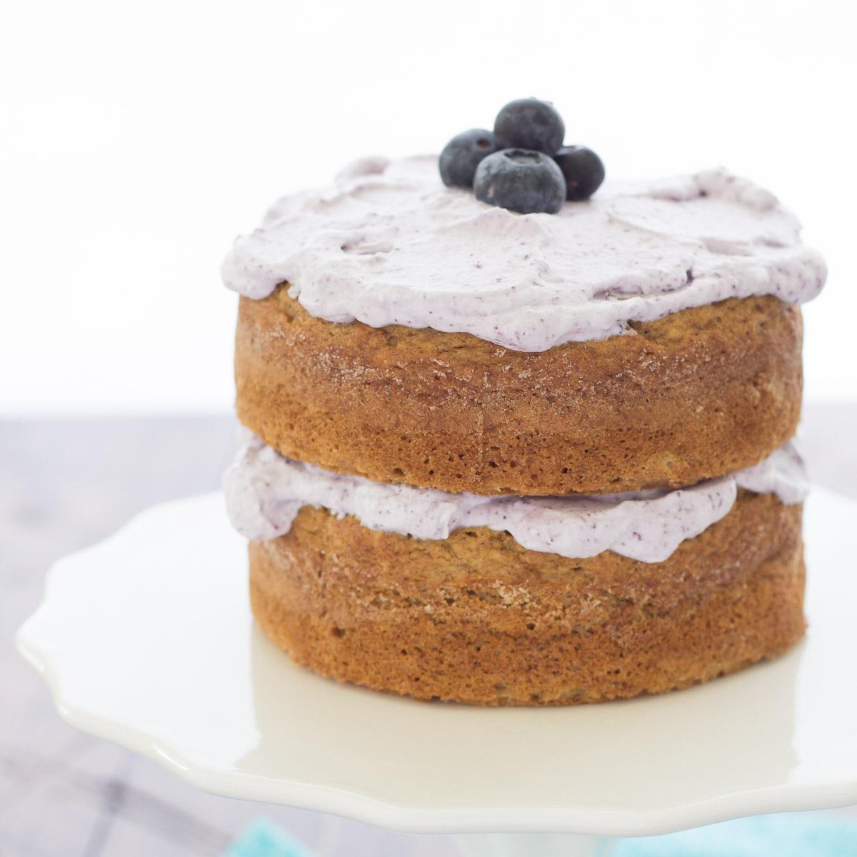 Healthier Smash Cake Recipe {Hannah's Purple Polka Dot 1st