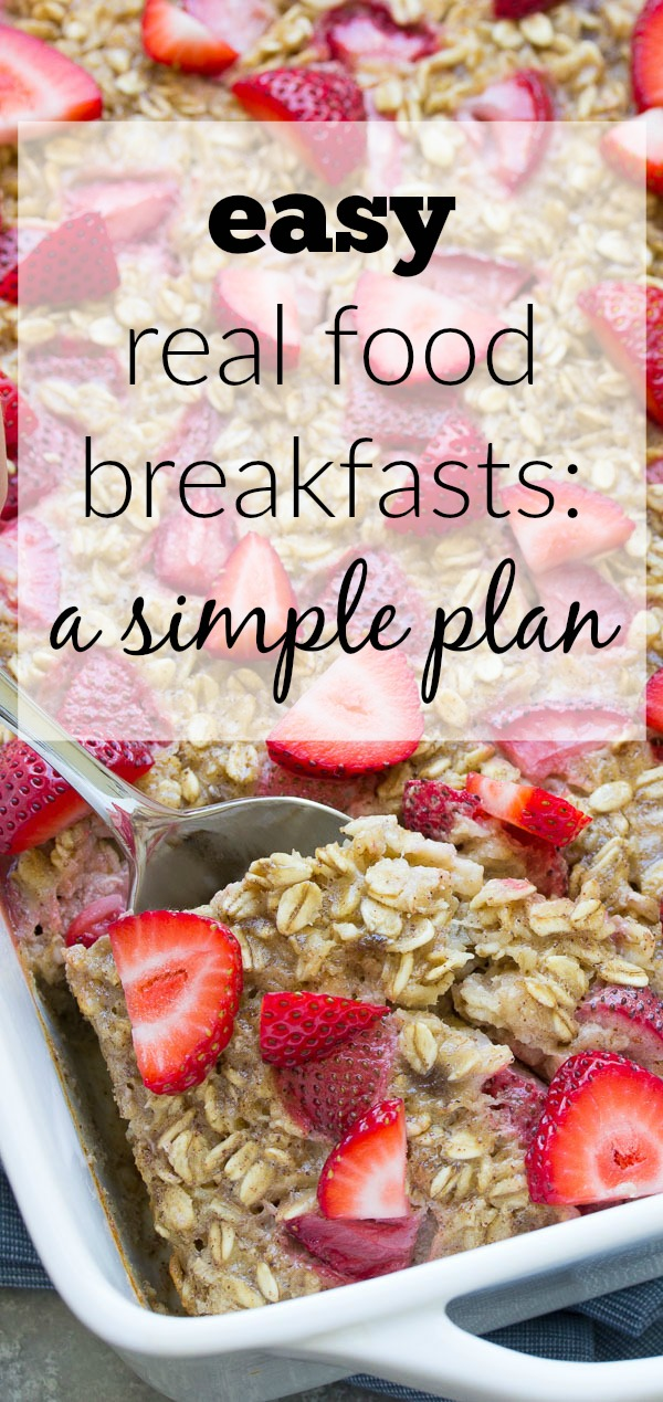 Make ahead baked oatmeal with strawberries