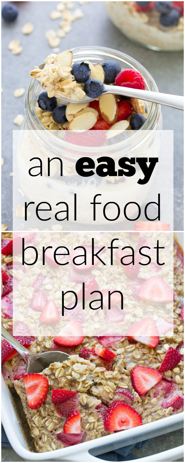 Collage featured image for EASY and healthy real food breakfasts