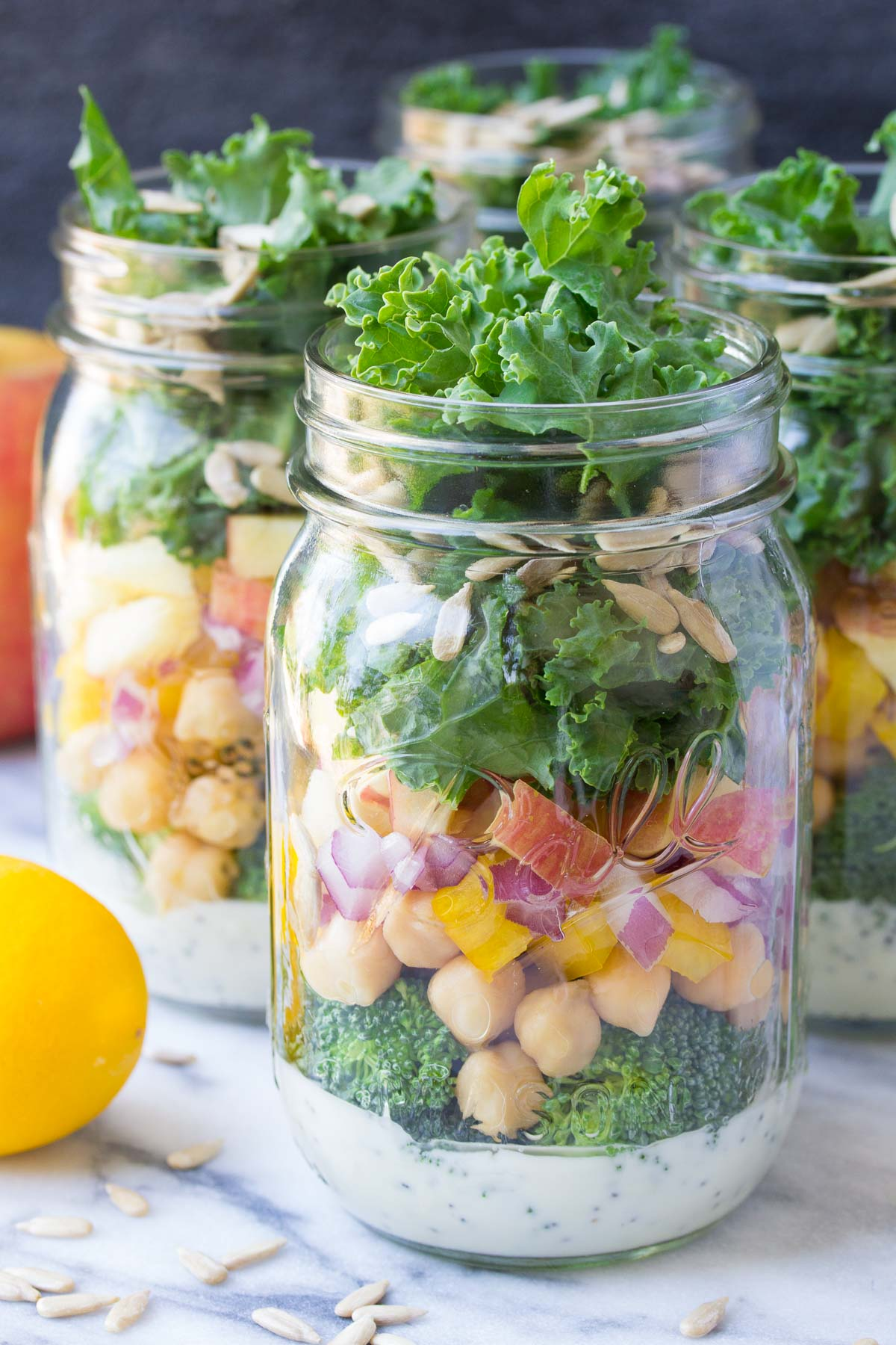mason jar salad layered