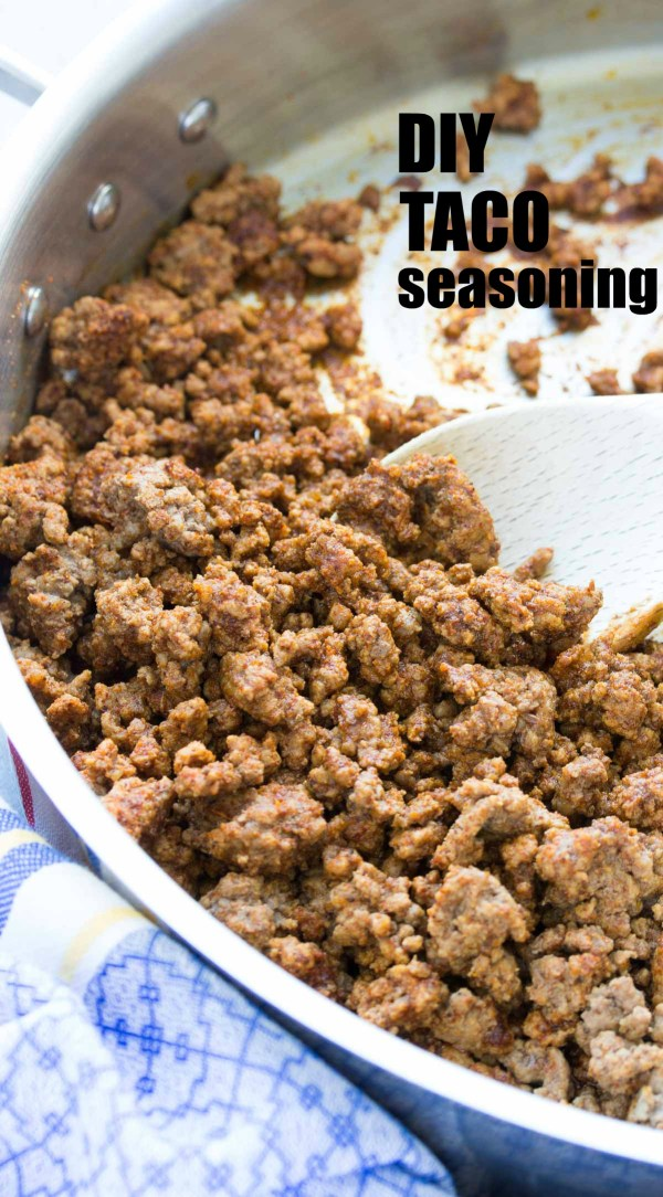 Homemade Taco Seasoning recipe is healthier and more flavorful than the store-bought packets! Make this easy recipe ahead for tacos, burritos, soups and more! | www.kristineskitchenblog.com
