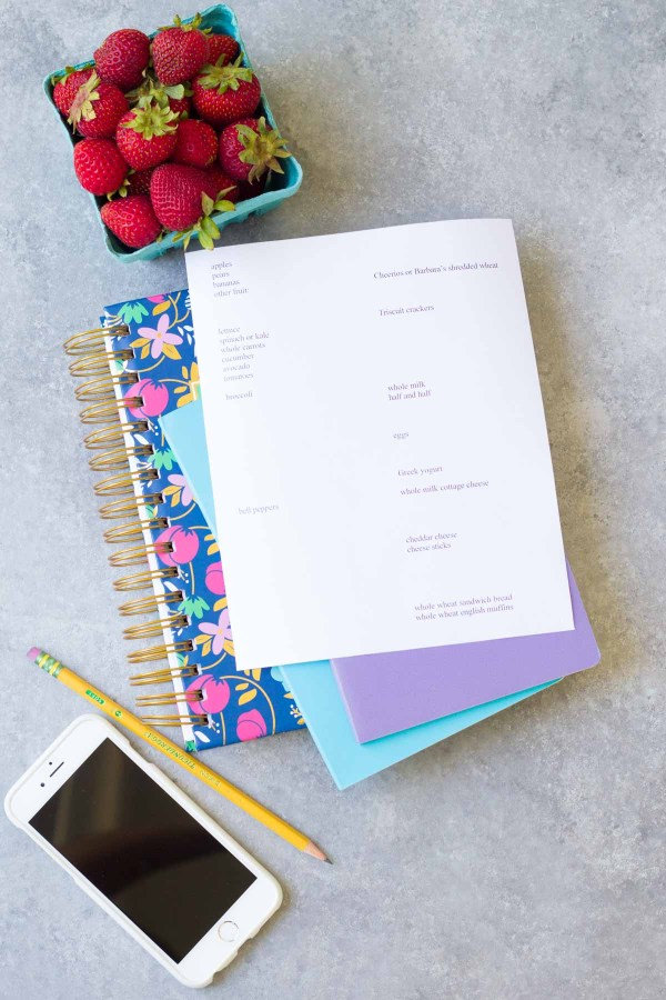How to save time at the grocery store. Use a printable grocery list template to stay organized.