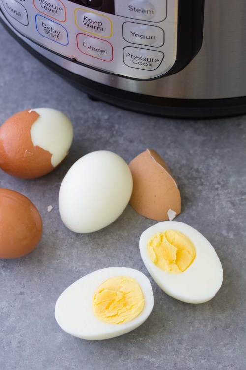 These Easy Peel Instant Pot Hard Boiled Eggs are so simple to make.