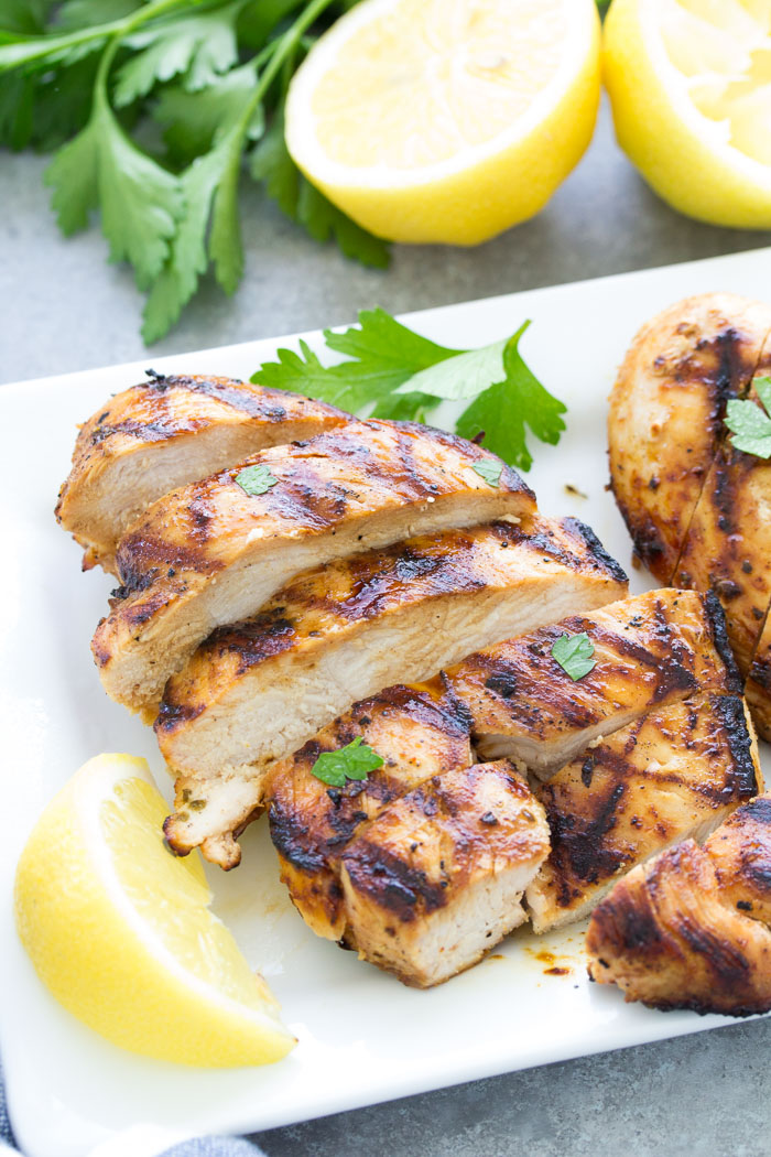 grilled chicken recipe with olive oil lemon marinade