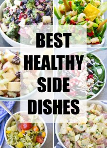 Delicious, healthy side dishes to go with any meal! Here you'll find vegetables, pasta, salads, beans and potato side dishes for dinner or your next bbq, potluck or picnic.