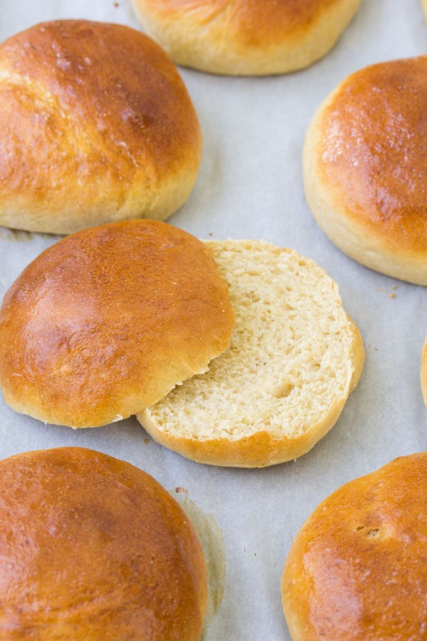 Homemade hamburger buns are easier to make than you think! This quick brioche bun recipe takes just one hour from start to finish.
