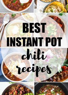 Best Instant Pot Chili Recipes collage of photos.