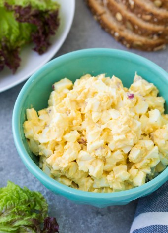 egg salad recipe in a bowl