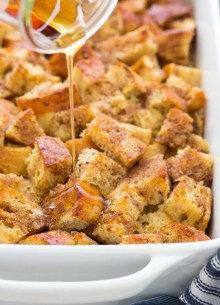 baked french toast with syrup