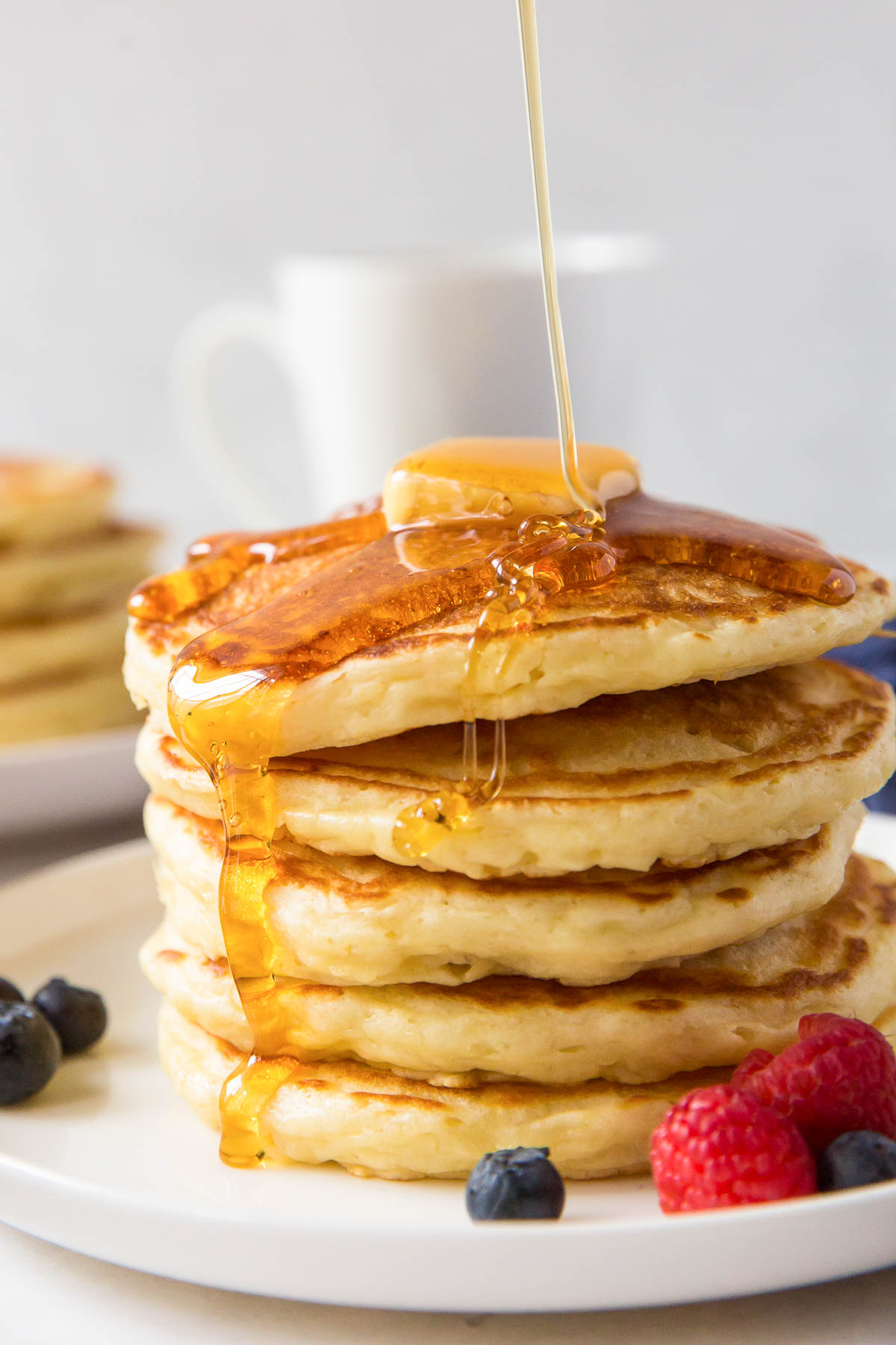 Perfect Fluffy Buttermilk Pancakes The Best Soft And Fluffy Pancakes You Will Ever Eat