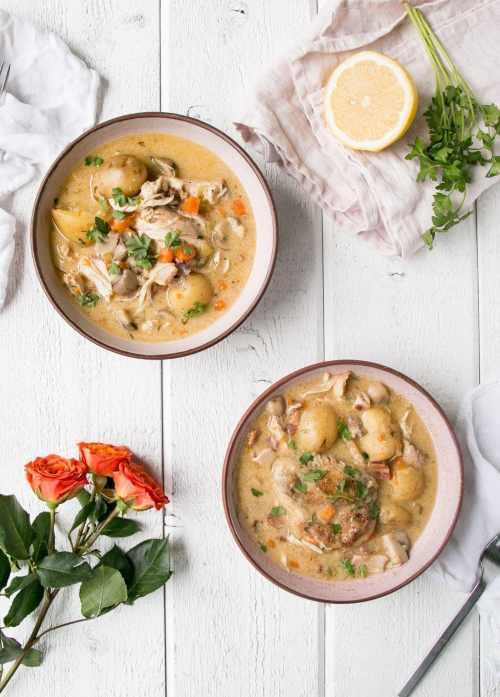 Instant Pot Chicken Fricassee
