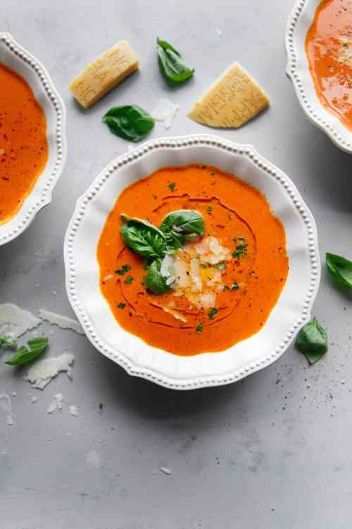 Homemade Tomato Basil Soup Pressure Cooker
