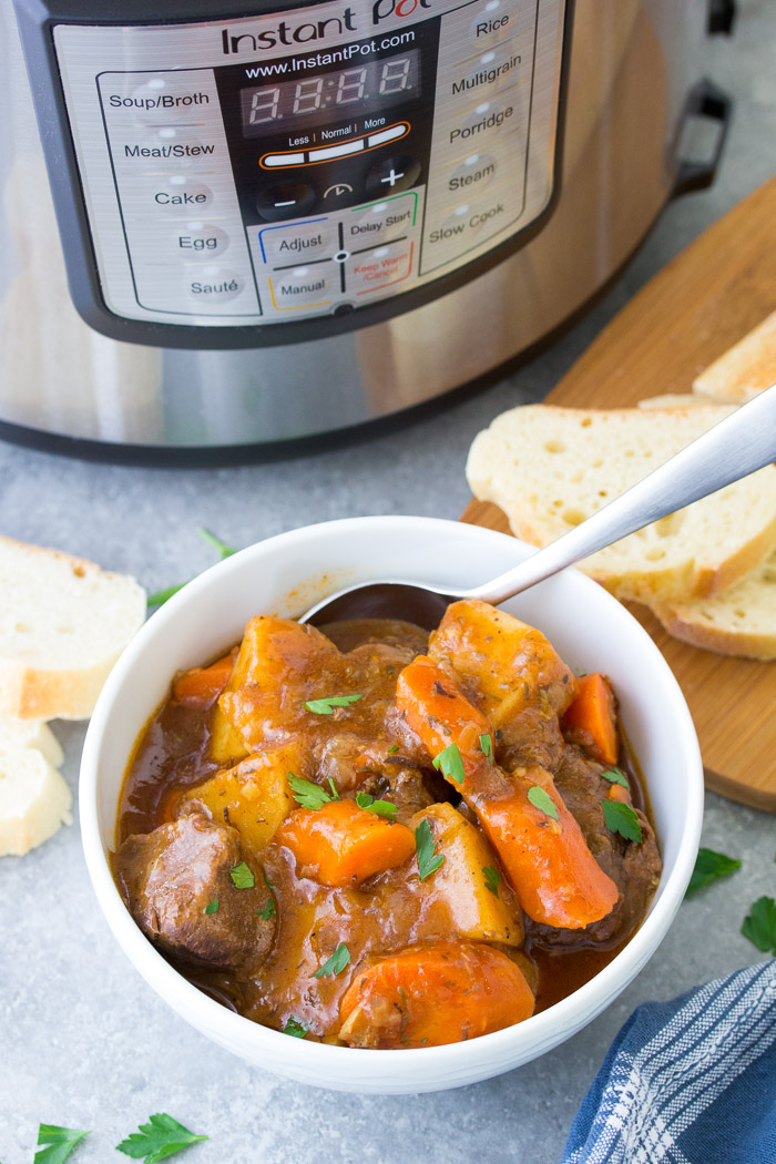 Instant Pot Beef Stew Easy Pressure Cooker Recipe