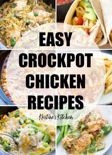 Collage of easy crockpot chicken recipes.