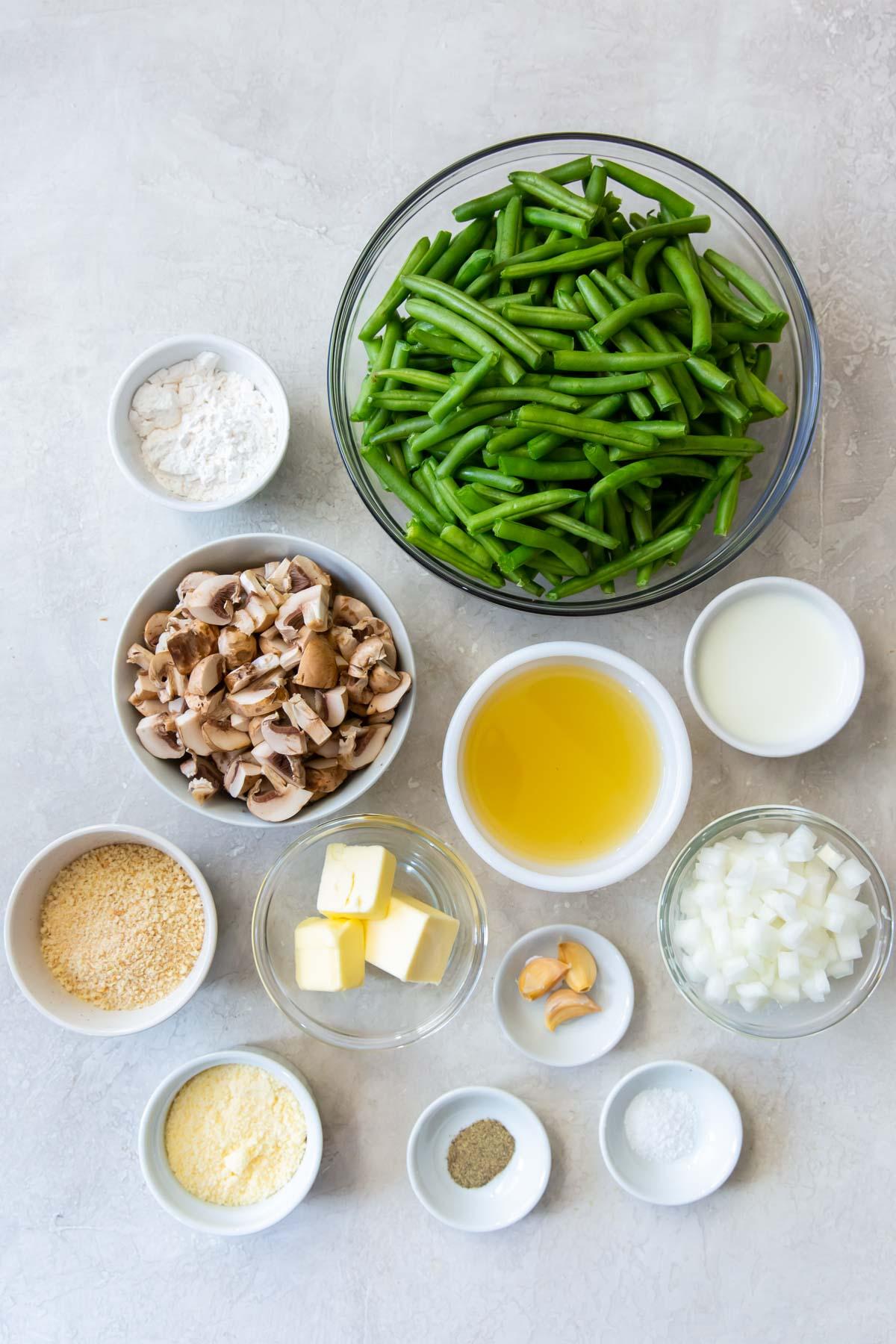 ingredients for green bean casserole recipe