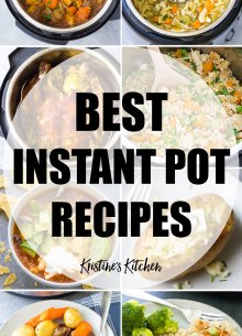 Collage of photos of the best instant pot recipes.