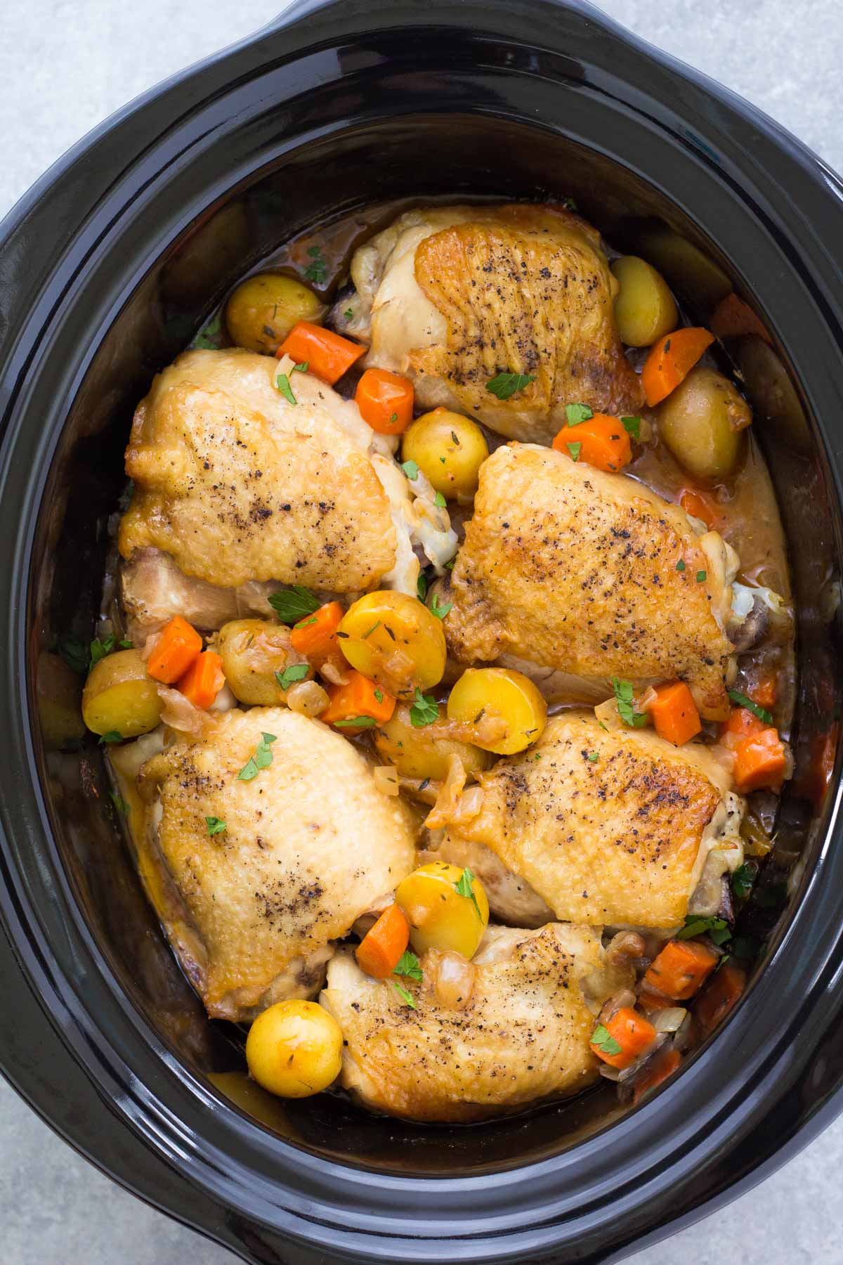 Healthy Crock Pot Chicken and Rice - Green Healthy Cooking