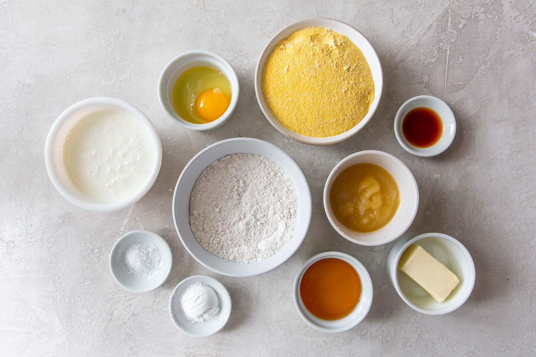 ingredients for cornbread recipe