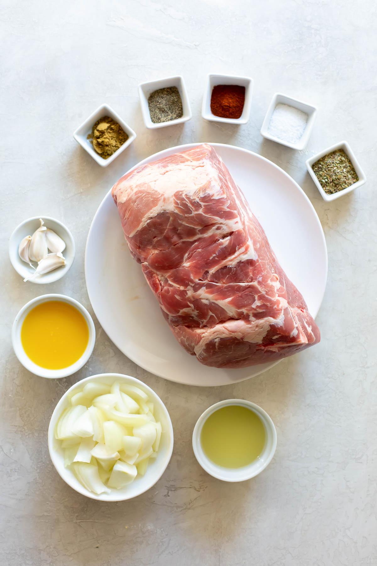 ingredients for carnitas recipe