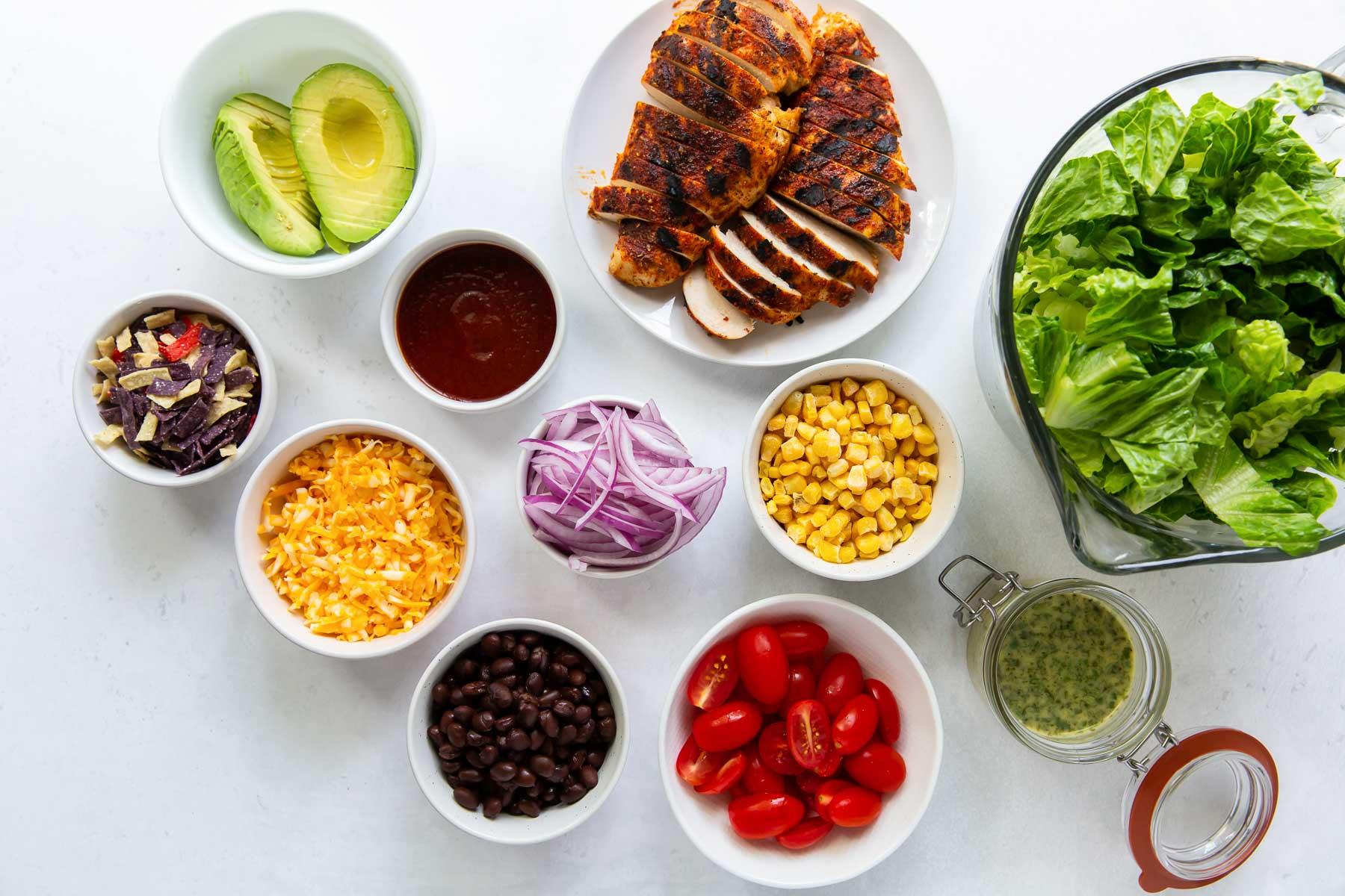 ingredients for bbq chicken salad recipe