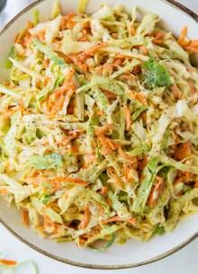 coleslaw in a serving bowl