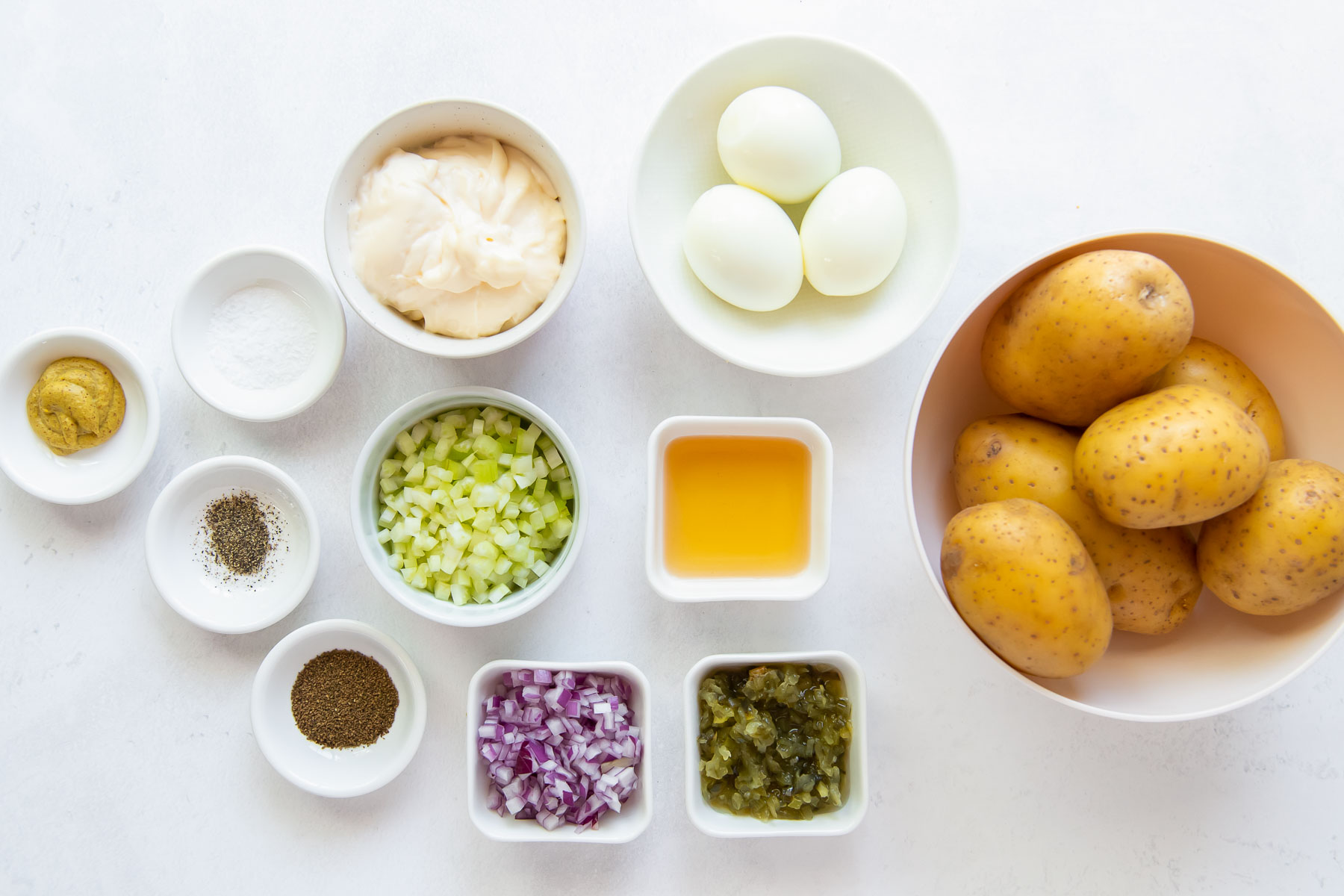 ingredients for potato salad recipe
