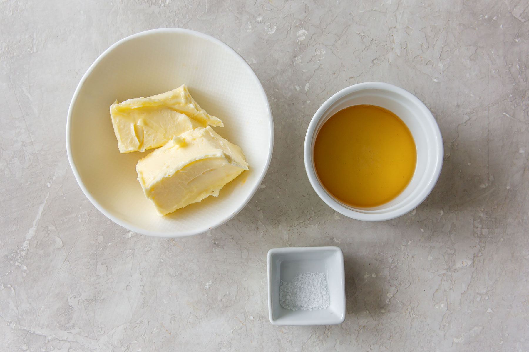 ingredients for honey butter recipe