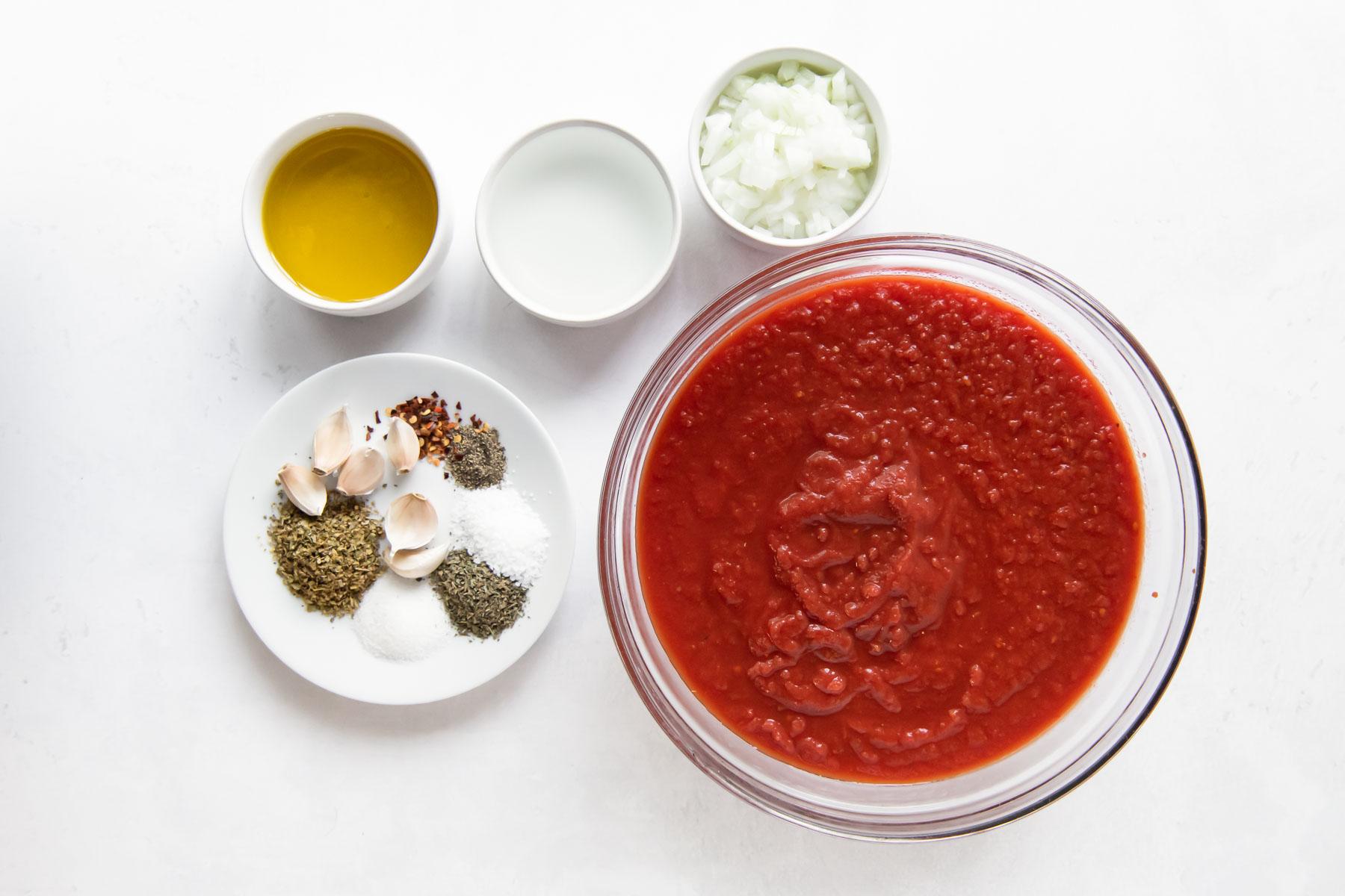 ingredients for marinara sauce recipe