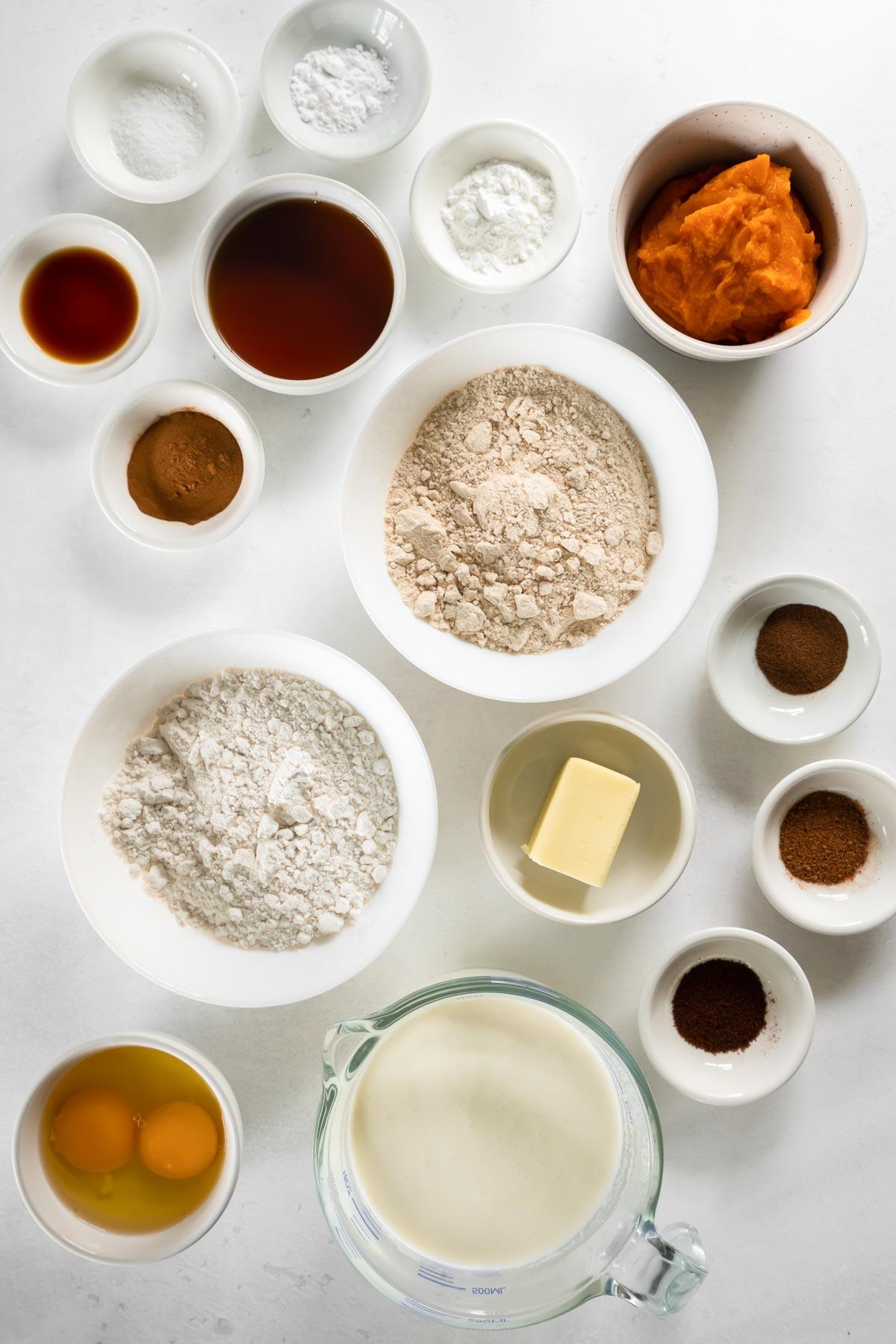 ingredients for pumpkin pancake recipe