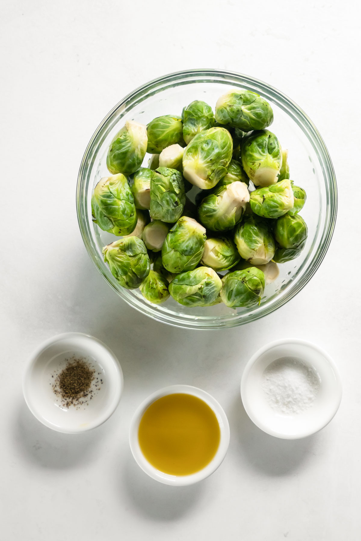ingredients for roasted brussels sprouts recipe