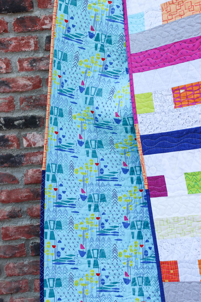 Piece And Quilt Hop Along Giveaway Finished Quilt