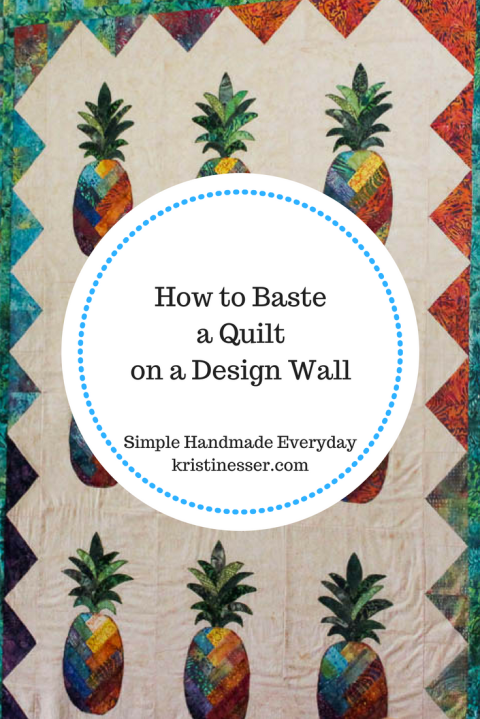 How To Spray Baste A Quilt On A Design Wall Simple