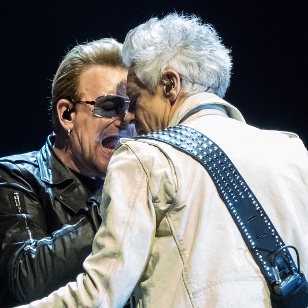 Bono and Adam up close at U2 concert in Dublin 24 Nov 2015