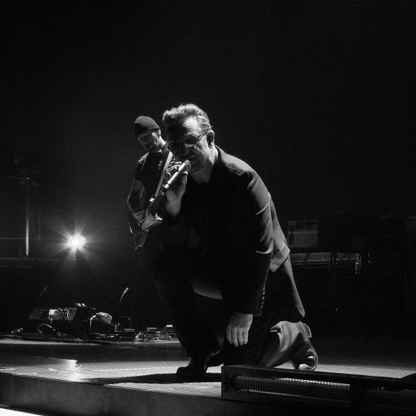 Bono at U2 concert in Dublin 24 Nov 2015