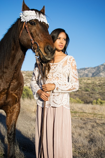 Santana with horse in Tucson Arizona