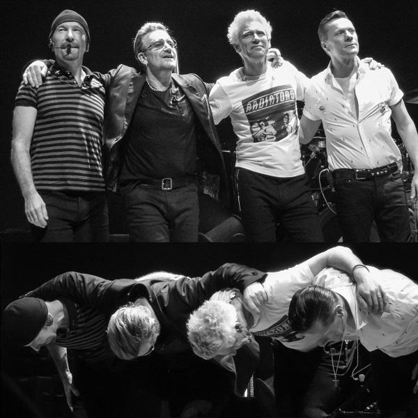 U2 at U2 concert in Dublin 24 Nov 2015