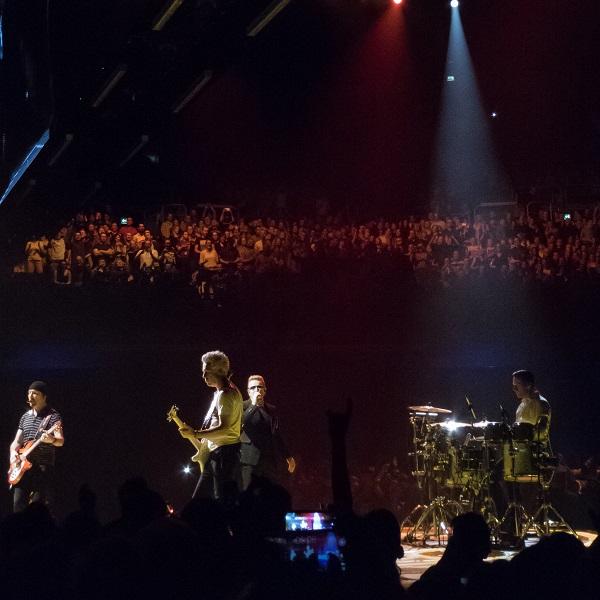 U2 on stage U2 concert Dublin 24 Nov 2015