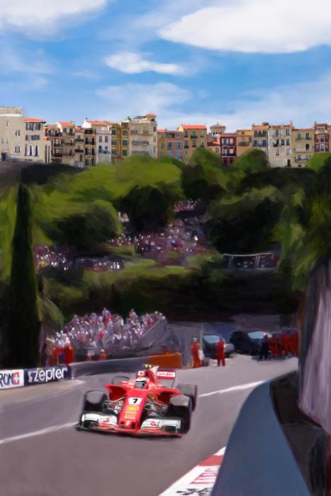 Kimi Raikkonen Art Monaco GP 2017
