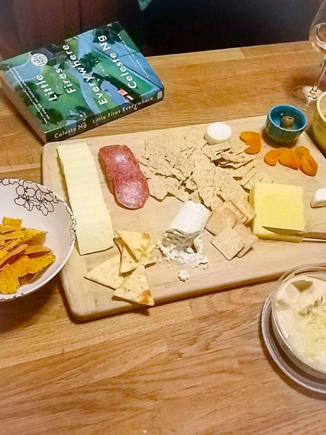book club cheese and cracker spread