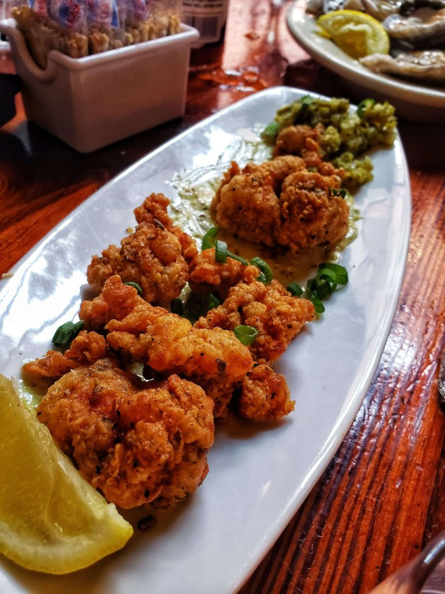 Fried alligator, crescent city brewhouse, new orleans