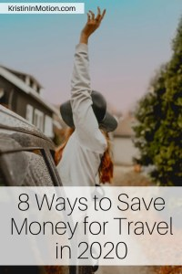 2020 can be the year that you finally prioritize saving money to fund your adventures. I've compiled a list of ways that you can start saving and getting out there to explore! #moneysaving #moneyhacks #budgettravel