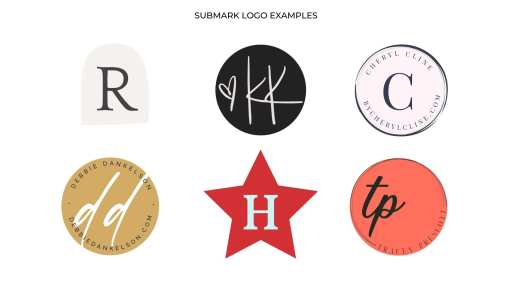 How To Use Your Personal Brand Logos - submark logo examples