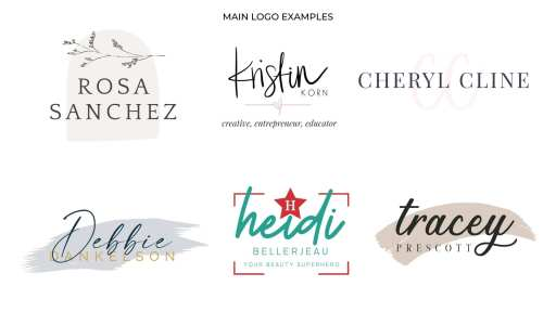 How To Use Your Personal Brand Logos - main logo examples