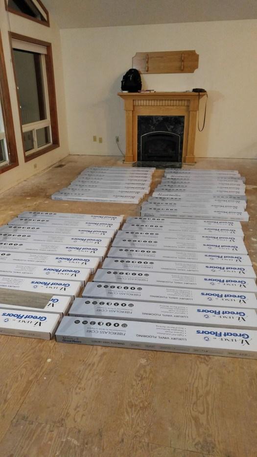 Vinyl flooring acclimating before installation