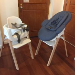 Stokke High Chair Captain Chairs For Pontoon Boats Steps System The Versatile That Evolves With Your Baby Now Boys Are At Stage Where They Love To Look Around And Watch Their Big Brother Bouncer Seat Can Be Set Upon Frame