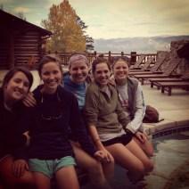 post hike soak in Frontier hot tub