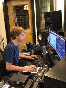 Justin Hind recording CDI