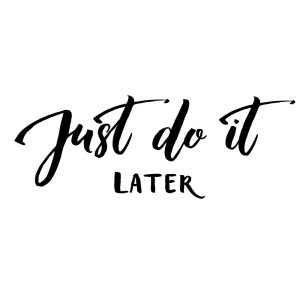 The mantra of distraction: just do it later.